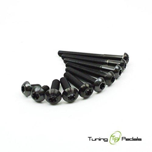 M6 Titan Schraube nach ISO 7380, Linsenkopf in schwarz