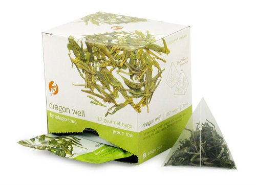 Adagio Teas Green Tea, Dragon Well, Tea Bags, 15-Count Package (Pack of 3)