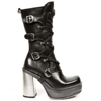 New Rock New Circle Boots Women - Black - Euro 36 / UK 3.5