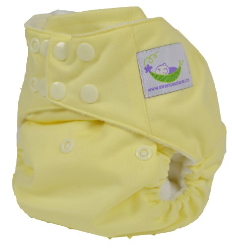 Sweet Pea One Size Pocket Diaper with Microfiber Inserts (Butter)