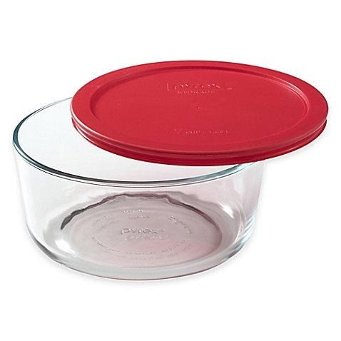 Pyrex Storage Plus 7-Cup Round Glass Bowl with Cover (Oven Safe Small Bowls compare prices)