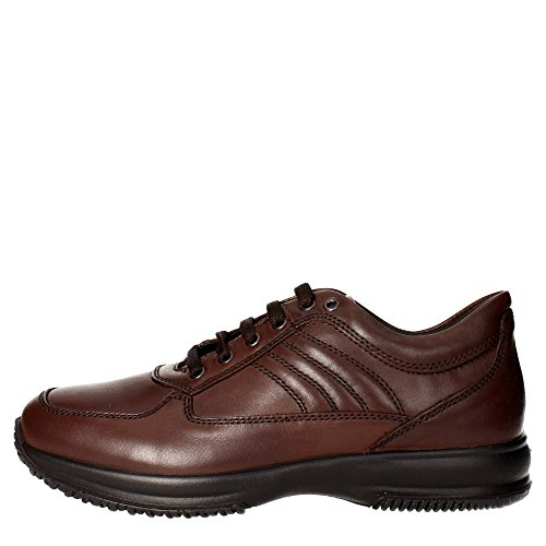 Imac 60990 Sneakers Uomo Pelle Marrone Marrone 43