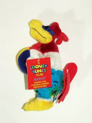 "A Looney Tunes Year: 7"" Summer Fun Foghorn Leghorn Mini Bean Bag (August 2000) - 1"