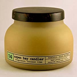 Coconut Lime Soy Candle by Aspen Bay Candles