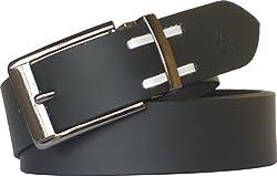 Sondagar Arts Men's Belt (SAB96_Black_38)