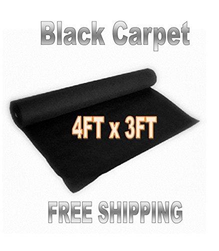 3ft x 4ft BLACK DJ CAR SUB SPEAKER BOX CARPET TRUNK LINER (Black Auto Carpet compare prices)
