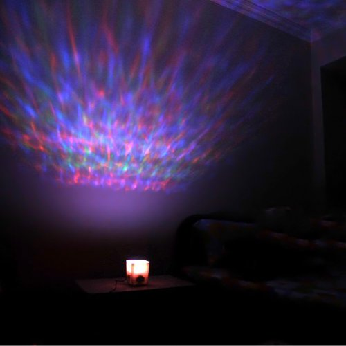 Locomolife Led Color Changing Aurora Ocean Projector Pot Mood Lamp Night Light Soothing Relaxing back-972289