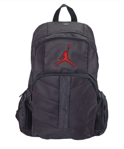 Jordan Boys Black/Red Mesh Overlay Backpack