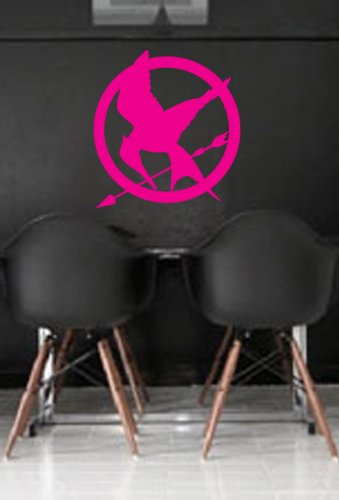 Hunger Games Mocking Jay Wall Art Sticker Decal Peel and Stick. Pink