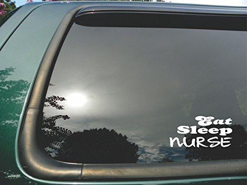 Eat-Sleep-Nurse-Die-Cut-Vinyl-Window-Decalsticker-for-Car-or-Truck-3x6