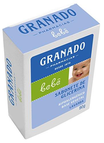 Linha Bebe Granado - Sabonete em Barra de Glicerina Lavanda 90 Gr - (Granado Baby Collection - Lavender Glycerin Bar Soap Net 3.2 Oz)