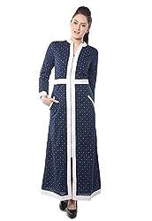 iamme Cotton Shiffle dress with white cotton border