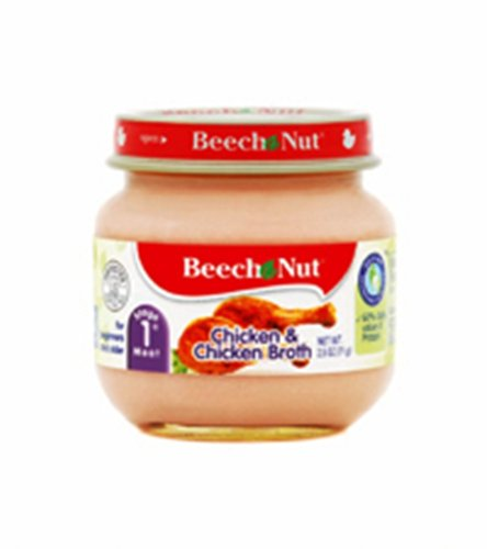 Beech-Nut Chicken and Broth  Stage 1, 2.5 Ounce Jars (Pack of 12) - 1