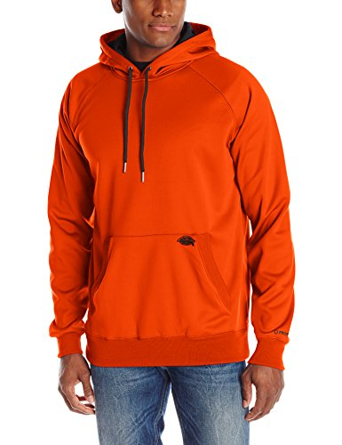 Dickies Men's Work Tech Fleece Pullover Hoodie, Neon Orange, XX-Large (Dickies Thermal Hoodie compare prices)