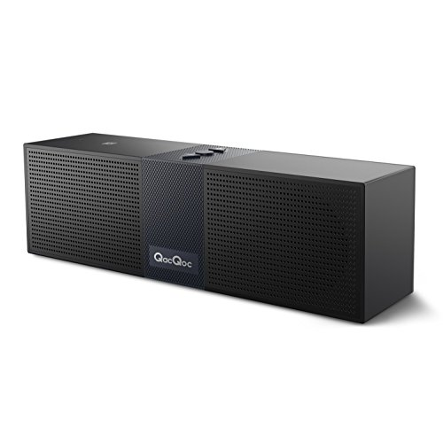 Bqeel Bluetooth Speakers Portable Bluetooth Wireless Speaker (High Definition Audio, Built-in Microphone, NFC, 10 Hours Playtime, Two Acoustic Drivers, A2DP Profiling)(Black)