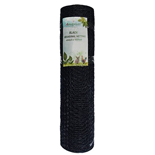 Fence Wire 20 Gauge 48-Inch-by-150-Foot 1-Inch Galvanized Stainless Steel Mesh and Black Vinyl Coated Hexagonal Poultry Netting / Hardware Cloth (Heavy Duty Wire Mesh compare prices)