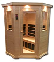 Hot Sale Clearlight CE-3 Three Person Corner Sauna Infrared Fusion Carbon/Ceramic - Nordic Spruce Wood New