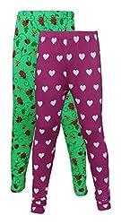Little Stars Girls' Cotton Regular Fit Leggings- Pack of 2 (Po2Gpl_3208_24, Multi-Colour, 4-5 Years)