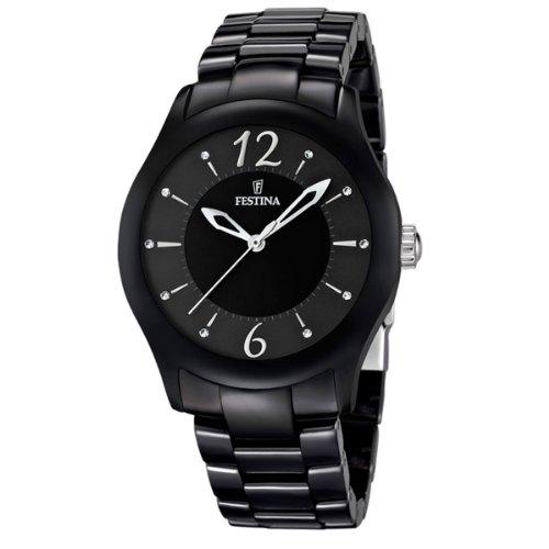 FESTINA F16638/2 - Reloj analógico de cuarzo unisex con correa de cerámica, color negro