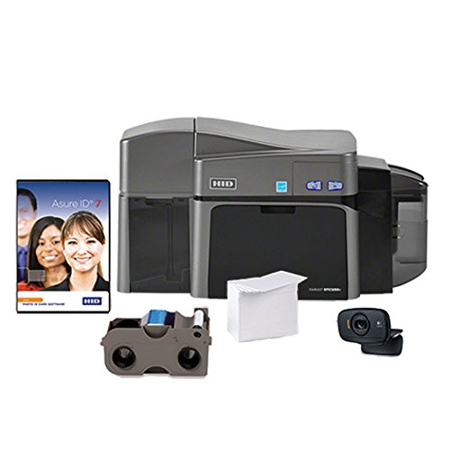 ID Card Maker - Fargo DTC1250e Dual-Side ID Card Printer + Supplies (Printer Double Side compare prices)