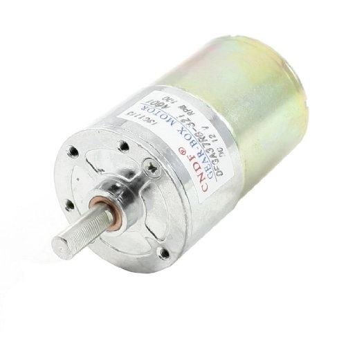 100Rpm Speed 6Mm Diameter Shaft 2 Terminals Geared Motor Dc 12V
