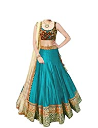 vaankosh fashion women skyblue cotton designer bollywood style lehenga /partywear lehenga/heavy embroidered lehenga