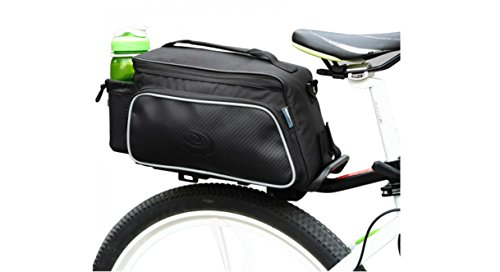 Roswheel Texture Series Cycling Bicycle Bike Pannier Rear Seat Bag Rack Trunk - Also as Shoulder Bag or Handbag Black (Bike Rear Rack With Bag compare prices)