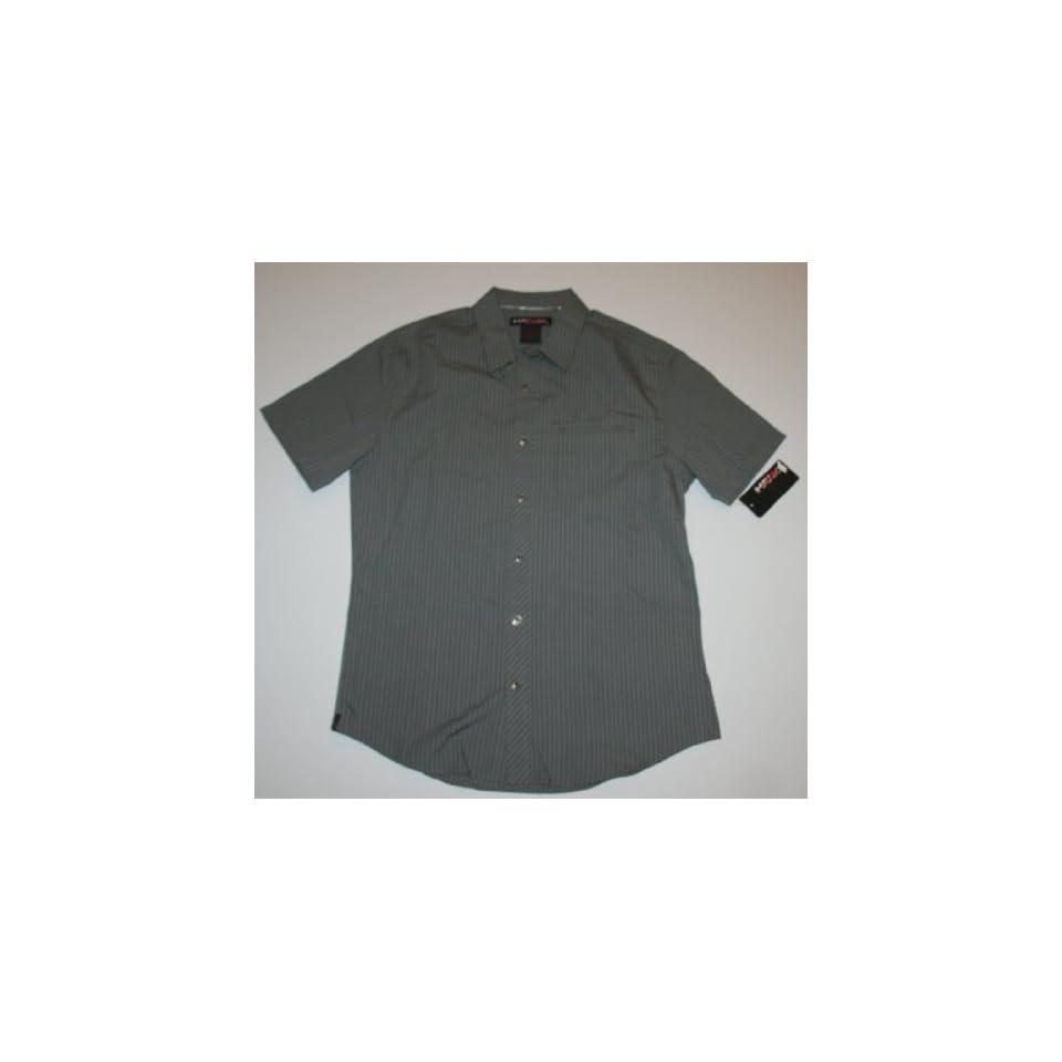 HAWK   Tony Hawk Young Men's Short Sleeve Dress Shirt   Gray (Small, Gray) at  Men's Clothing store