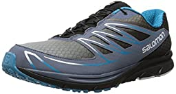Salomon Men\'s Sense Mantra 3 Running Shoe, Bleu Gris/Black/Boss Blue, 10 M US