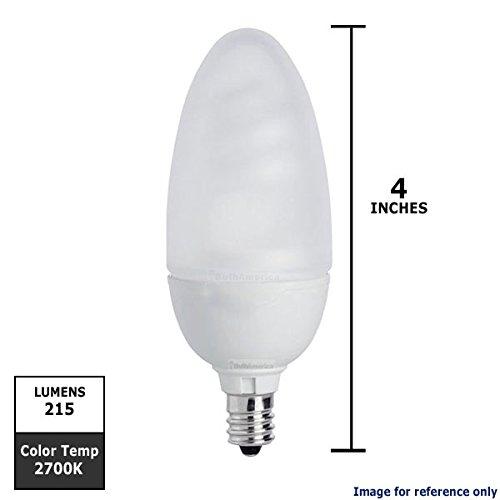 Philips 422303 5W 25-Watt T2 Candle Candelabra Base Cfl Light Bulb