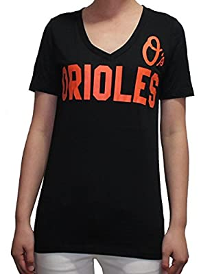 Womens MLB Baltimore Orioles V-Neck T Shirt by Pink Victoria's Secret