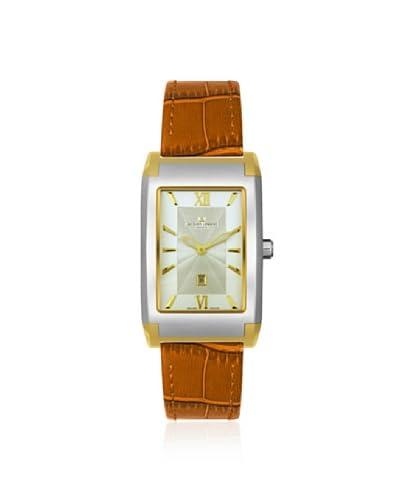 Jacques Lemans Men's GU182D Geneve Sigma Silver-Tone/Brown Leather Watch