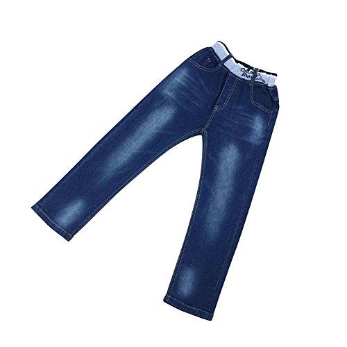 Zier Bambini Lungo Del Denim Dei Jeans Mutanda Casuale Pull Up Elastico Regolabile A86023