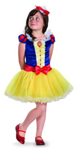 Disguise Girl's Disney Snow White Tutu Prestige Costume, 3T-4T