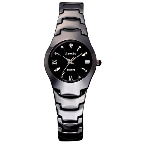 Semdu Sd6006L Women'S Black Ceramic Dial Watch