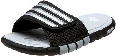 adidas adiLight UF Sandal (Little Kid/Big Kid),Black/Metallic Silver/Light Grey,1 M US Little Kid
