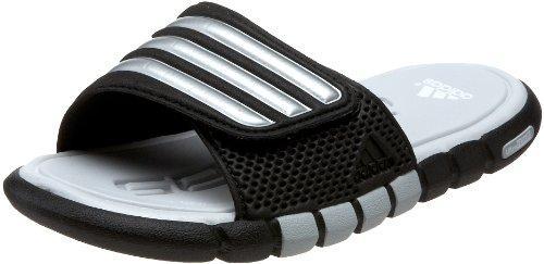 adidas adiLight UF Sandal (Little Kid/Big Kid),Black/Metallic Silver/Light Grey,6 M US Big Kid