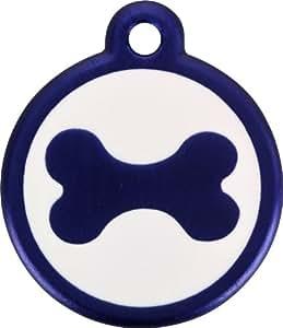 Red Dingo QR Blue Pet Tag, Bone, Small