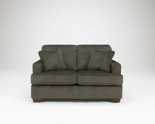 Buy Low Price Ashley Furniture Atmore Pewter Loveseat By Ashley B004h9hpx0