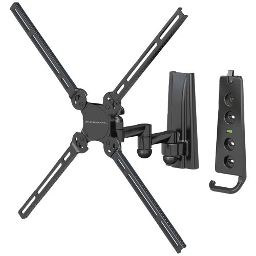 "Level Mount AIMTA Full Motion Medium Dual Arm Cantilever Mount for 10"" to 40"" Displays (Black)"