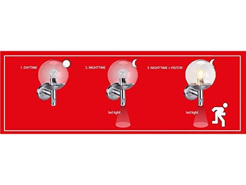 Set de 3 elro rVS46LA lampe d'extérieur avec détecteur de mouvement