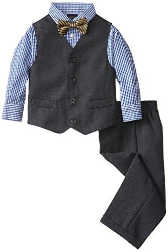 Nautica Little Boys' Birdseye Vest Set, Navy, 3T front-1020177