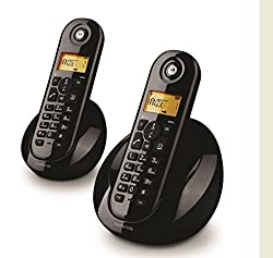 MOTOROLA CORDLESS TELEPHONE C602 I TWIN BLACK