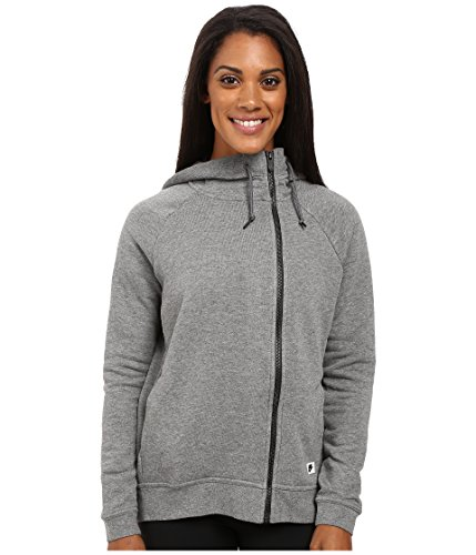 Nike Sportswear Modern Women's Cape (Medium, Carbon Heather/Dark Grey/Black Oxidized)