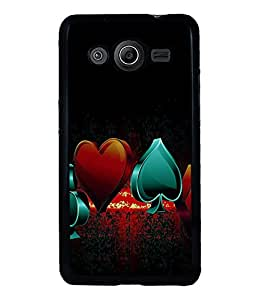 printtech Cards Logo Back Case Cover for Samsung Galaxy Core 2 G355H
