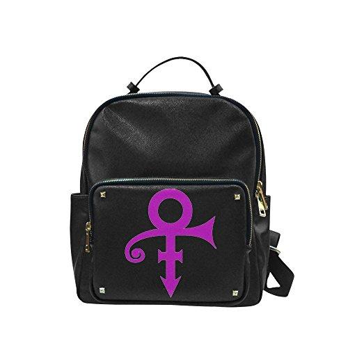 LJSWG 1958-2016 Purple Rain Prince Rogers Nelson Logo Unisex Leisure Backpack School Leisure Shoulder Bag