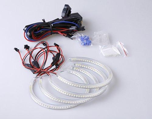 7000K Bmw White Led Angel Eyes Halo Kit For 3,5,7 Series E36 E38 E39 E46 M3