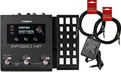Digitech RP360XP Guitar Multi Effects USB Pedal (with Expression Pedal) w/ Power Supply and 2 Cables from Digitech