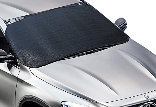 Big Ant Car Windshield Snow Cover - Ice, Sun, Frost and Wind Proof in All Weather, Multi-used as Outdoors Picnic Mats, Yoga Mat, Tent Sleeping Pad with 77.5