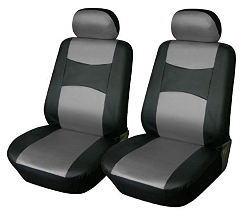 OPT® Brand. Vinyl Leather 4PC SET Mazda Front Car Auto Seat Covers, Black/Grey Gray Color, CMA7159-BK/GRY. Free Shipping From New York. (Mazda 3 Leather Seat Covers compare prices)
